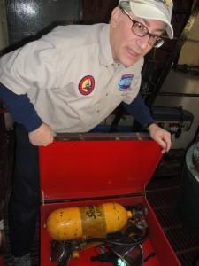Fire fighting equipment on lightship.