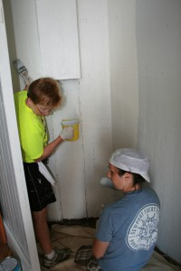 Photo by Carolyn Dodson Cory and Abby painting