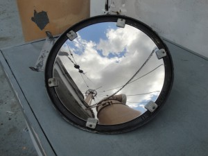 Photo by Anne Puppa This mirror shines brightly after all the dirt was cleaned off.