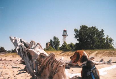 Betsie Harshman at Whitefish Point