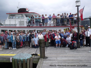 Happy group with crew at the end of the cruise. Photo by: Watermark crew member Zach Gibbons