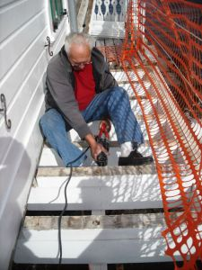 Howard Lewis installs new decking