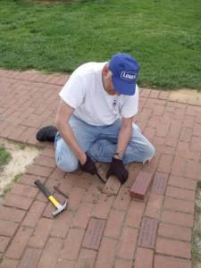 Tony Installing Brick