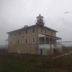 Point Lookout Lighthouse on a rainy November day.