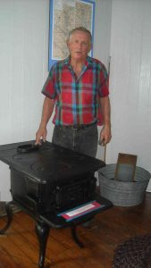Hobie with donated stove.