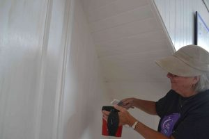 Mary O'Keefe painting second floor.