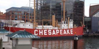 Lightship Chesapeake in Baltimore's Inner Harbor.