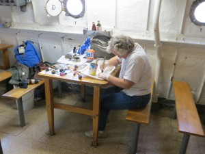 Photo by Ed Shaw Lauren hard at work.
