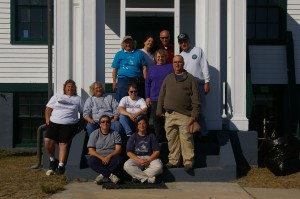 Photo Courtesy of Anne Puppa  The work crew at the end of the weekend.