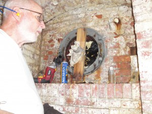 Photo By Anne Puppa All works on the porthole in basement.