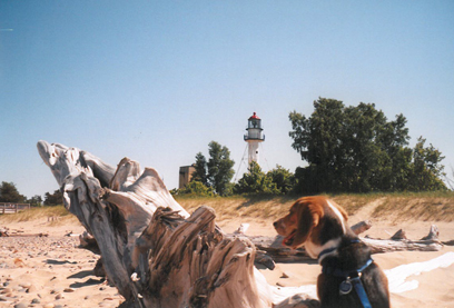 Betsie Harshman at Whitefish Point