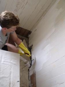 Photo by Tony Pasek Cory Talbott Paints Sitting Room Wall