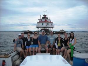 Matt's crew heading back from Thomas Point.