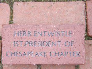 Memorial Brick for our founding president.