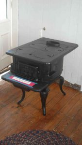 Stove donated by Hobie Statzer after restoration.