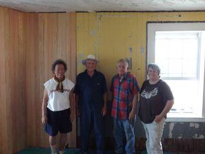 The work crew - Susie, Bob, Hobie and Virginia.