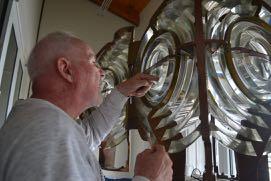 All inspects the bullseye lens.