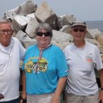 Hard-working crew of July 12 - Hobie, Virginia and Dick