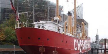 Lightship Chesapeake in Baltimore's Inner Harbor